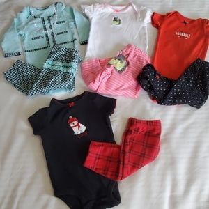 6m Carter's Onsies Matching Sets